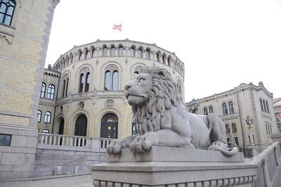 Løvebakken foran Stortinget